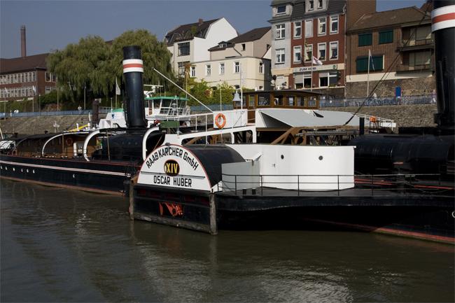 Der Raddampfer ist heute Museumsschiff