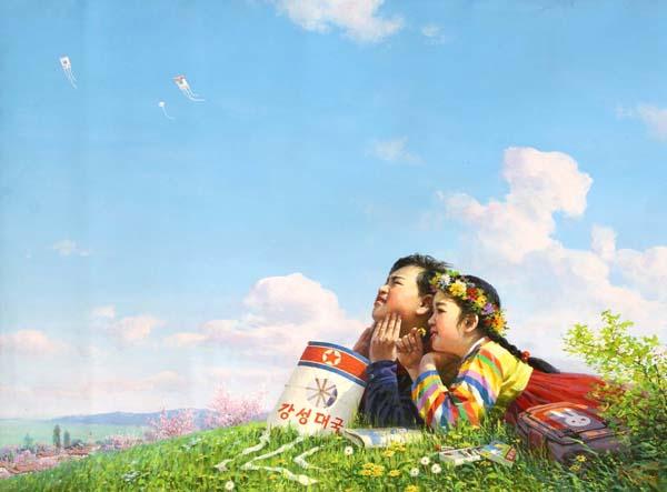 Kunst aus Nordkorea: Blumen für Kim Il Sung